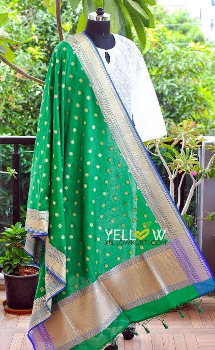 GREEN - BLUE DUPATTA