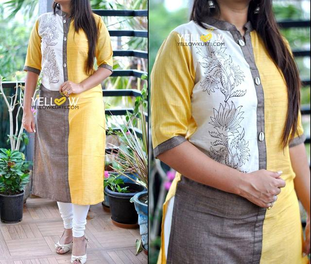 Straight fit Khadi cotton Kurti in 3 shades