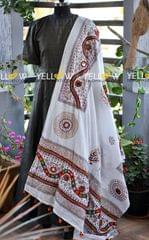 Pure cotton Kutch work dupatta