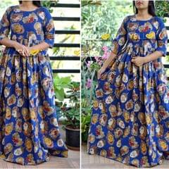 Kalamkari cotton long gown