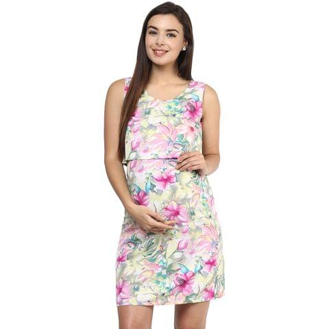 Mine4nine Women's PINK FLORAL TWO PIECE DRESS