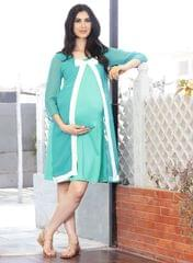 Coral Bow knot design maternity dress