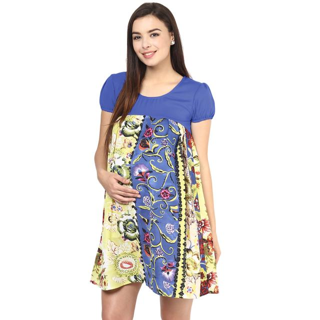 Jade Floral Luxe Maternity Flow Dress