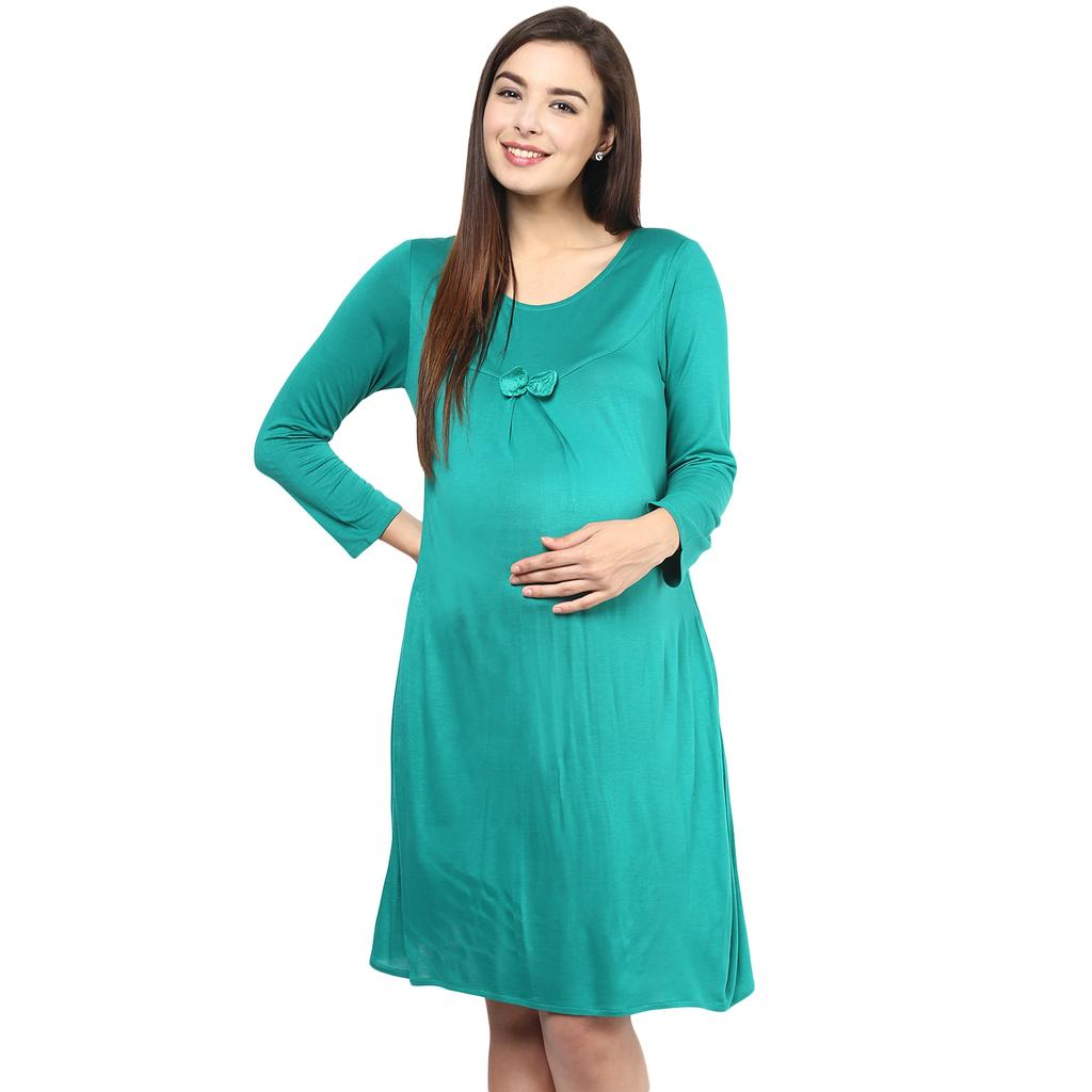 Mine4nine Women's GREEN BOWKNOT LACE BACK DRESS
