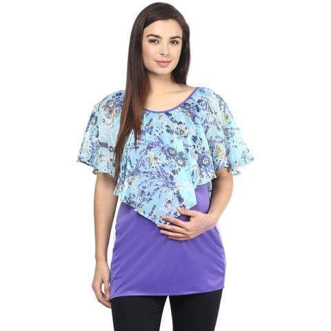 Mine4nine Women's PURPLE LAYERED TOP