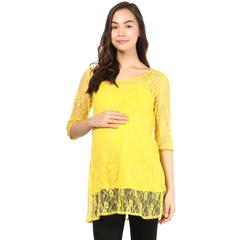 Innovative Lace & Sleeve Maternity Tunic Top Women's
