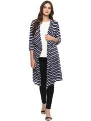 Mine4nine Women's Blue maternity Cardigan cum Shrug
