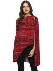 Mine4nine Women's Red maternity Shrug