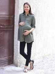 Olive Women's Rayon Maternity Top