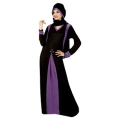 Exotica Black Colored Lycra Abaya