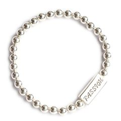 Velvetcase LeCalla Silver Ball Passion Men's Bracelet
