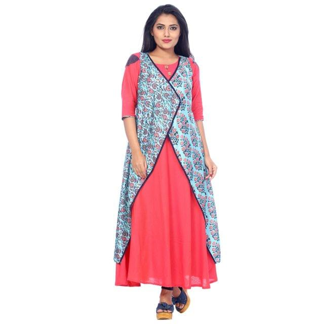 Payal Womens A-line Cotton Mal Ankle Length Kurti