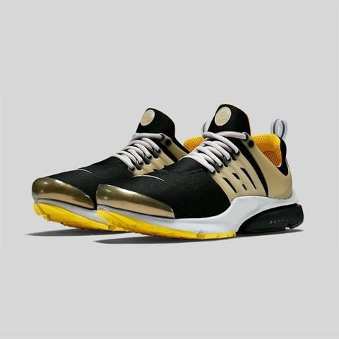 Black Yellow Presto Running Shoes