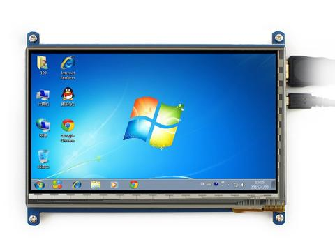 7 inch 800*480 Capacitive Touch Screen LCD Display HDMI Interface Custom Raspbian Angstrom Android4.2.2 Supports Various Systems for All Version of Raspberry pi Beaglebone Black Banana Pi Banana Pro Video Photo Module