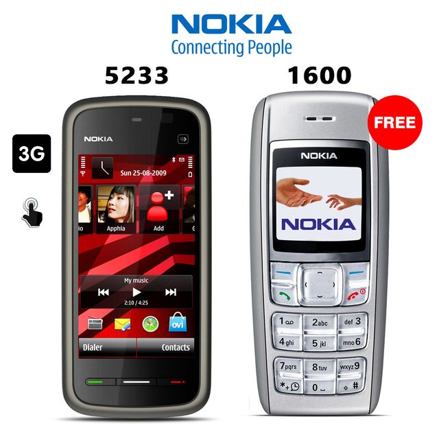 Buy Nokia 5233 and Get Nokia 1600 Free