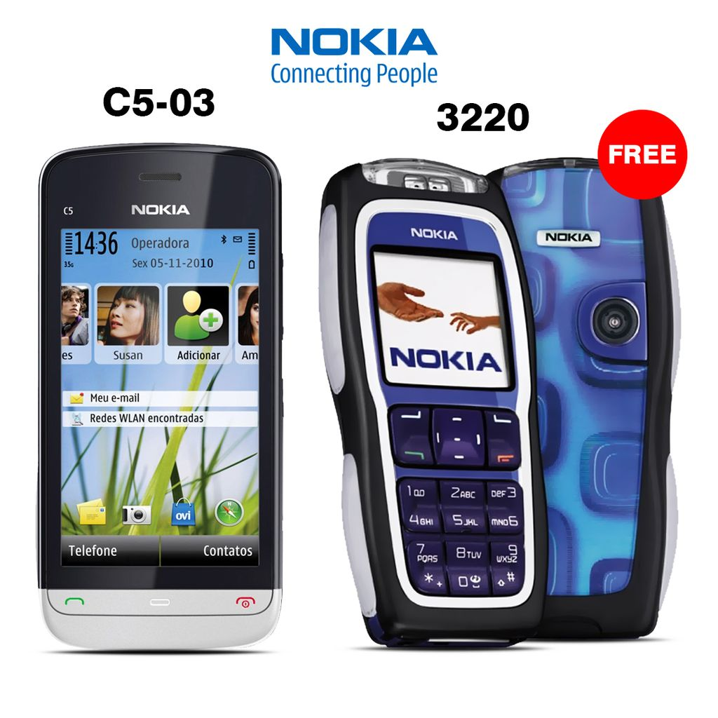 Buy Nokia C503 and Get Nokia 3220 Free