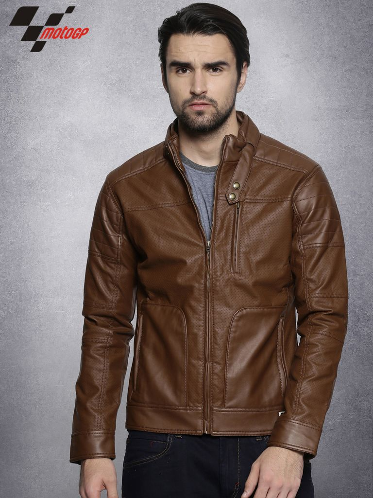 Men Brown  Bomber Jacket