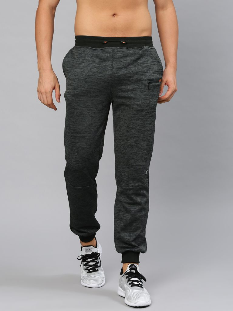Charcoal Grey Self-Design Joggers