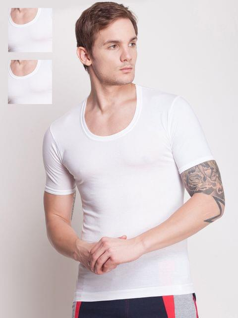 Pack of 3 White Innerwear Vests MNFF-142-po3