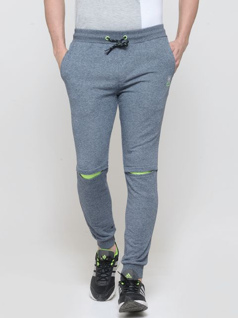 Navy Grindle Effect Joggers