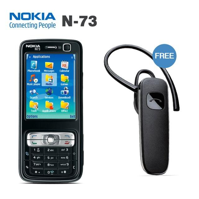 NOKIA N73 MOBILE PHONE WITH FREE BRANDED BLUETOOTH