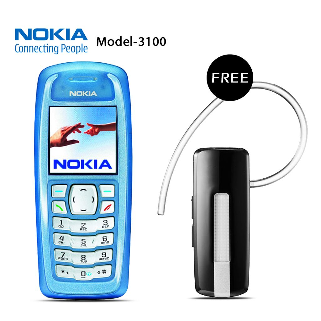 NOKIA 3100 MOBILE PHONE WITH FREE BRANDED BLUETOOTH