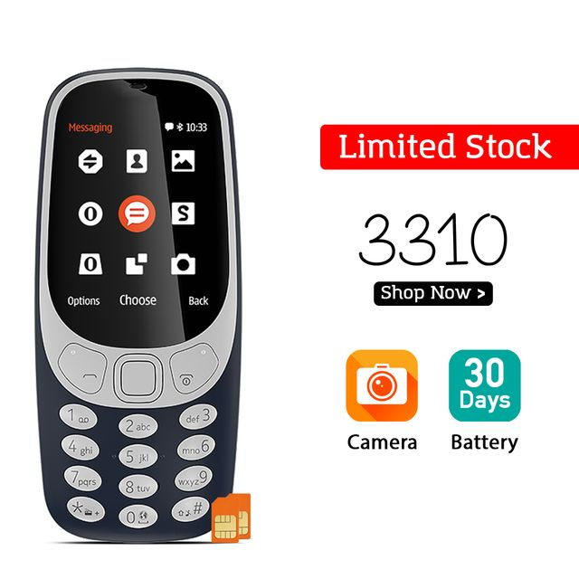 3310 MOBILE DUAL SIM WITH CAMERA (IMPORTED)