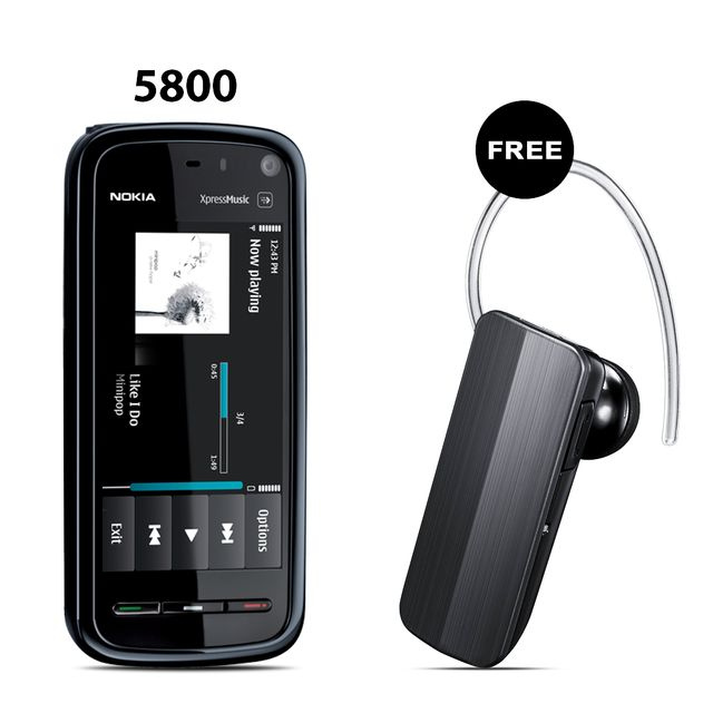NOKIA 5800 XPRESS MUSIC MOBILE PHONE+ BRANDED BLUETOOTH FREE