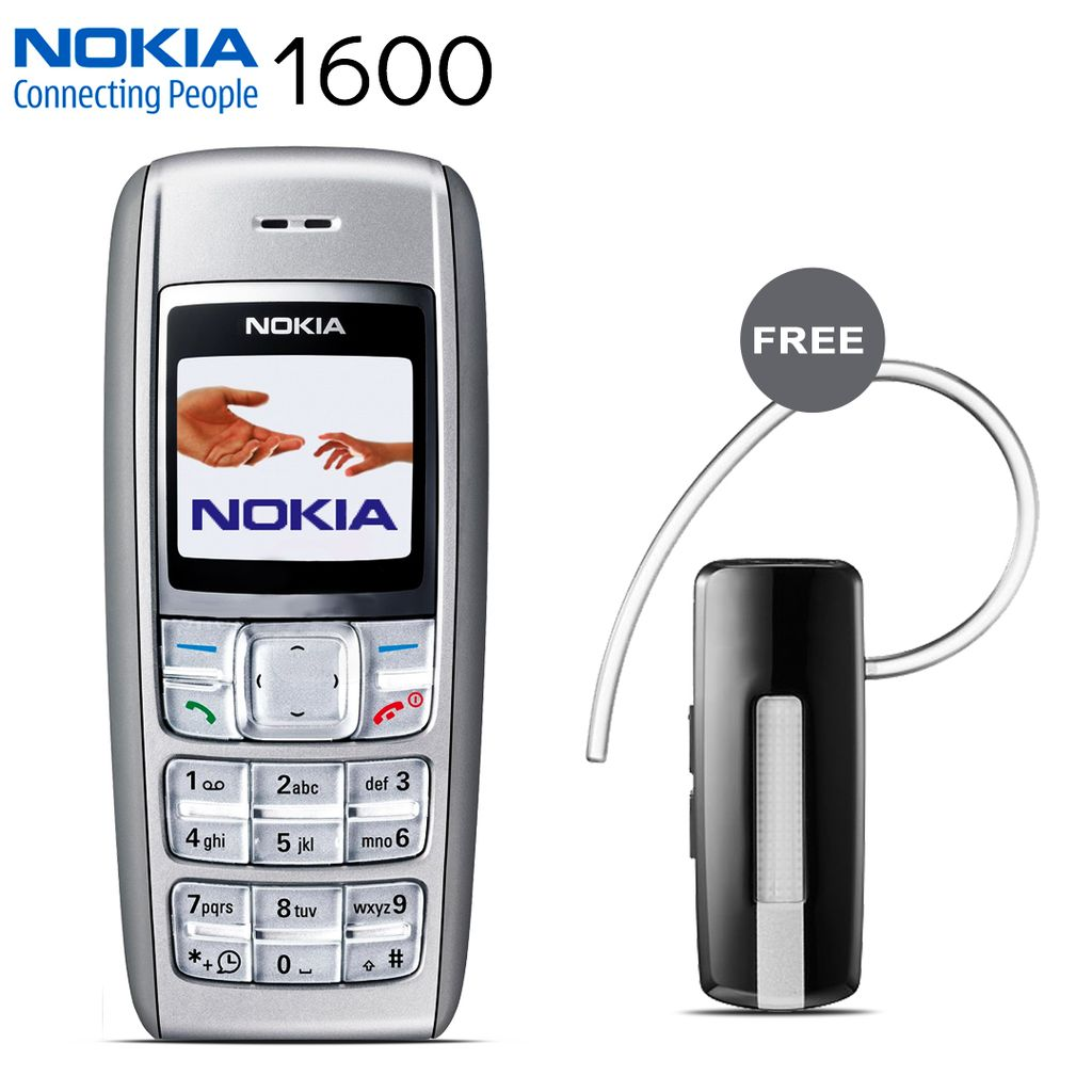 Buy Nokia 1600 mobile phone with bradnded Bluetooth free