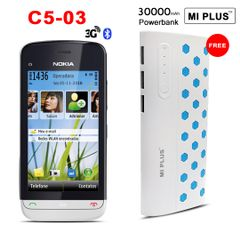 Nokia C5-03 mobile phone with free MI PLUS 30000mah power bank