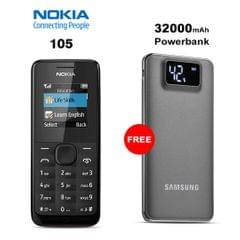 Buy Nokia 105 Mobile Phone With Free 32000mAh Samsung Power Bank