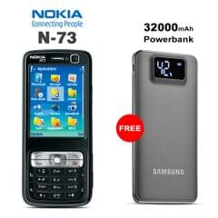 Buy Nokia N73 Mobile Phone With Free 32000mAh Samsung Power Bank