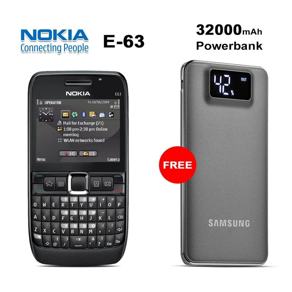 Buy E-63 Mobile Phone With Free 32000mAh Samsung Power Bank