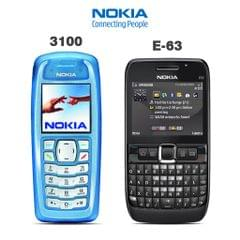 NOKIA 3100 MOBILE PHONE WITH FREE E-63 MOBILE