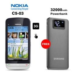 Buy Nokia C5-03 Mobile Phone With Free 32000mAh Power Bank