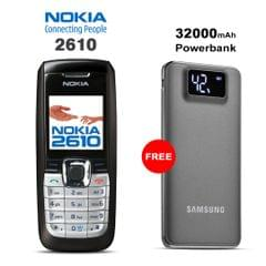 Buy Nokia 2610 Mobile Phone With Free 32000mAh Samsung Power Bank