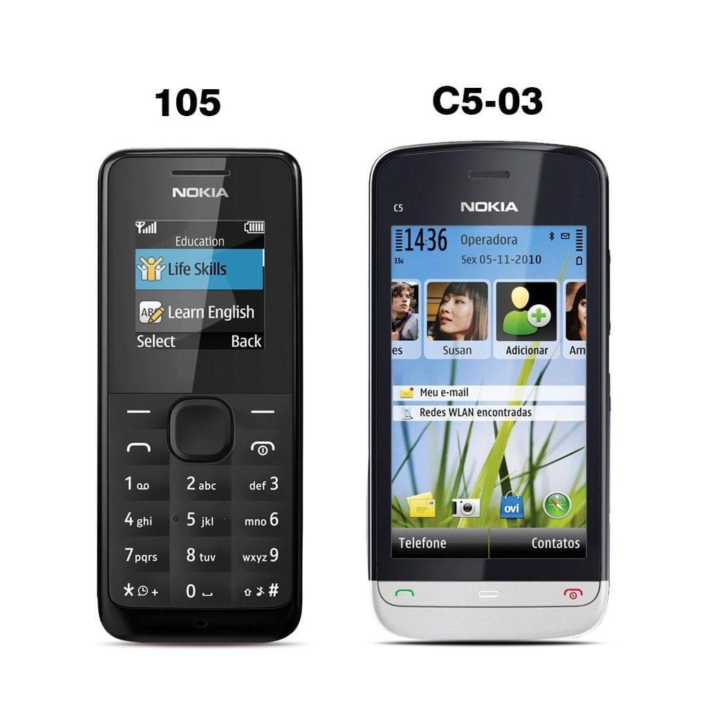 Nokia 105 Mobile Phone with Free Nokia C5-03