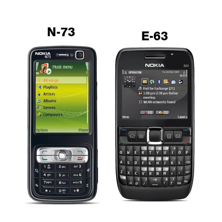 NOKIA N-73 MOBILE PHONE WITH FREE E-63 MOBILE PHONE