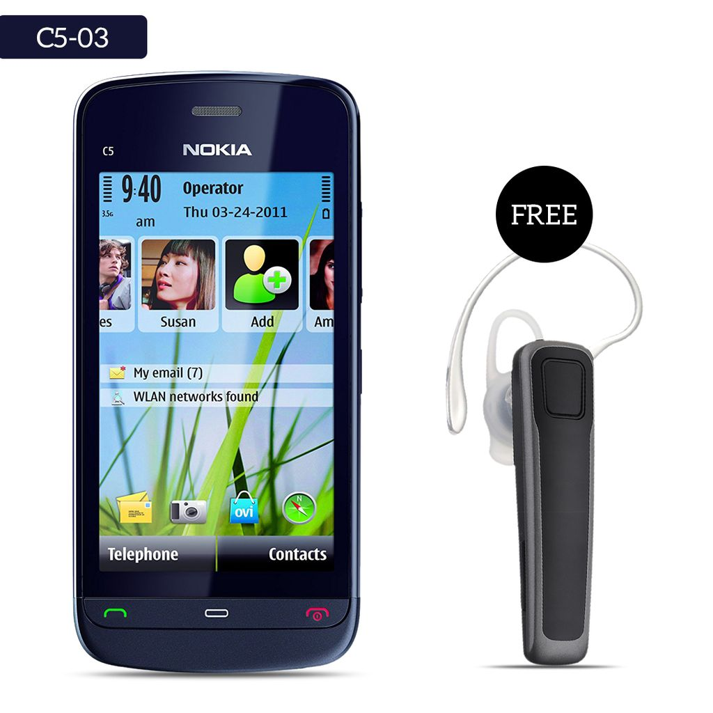 Nokia c5-03 Mobile Phone With Free Bluetooth