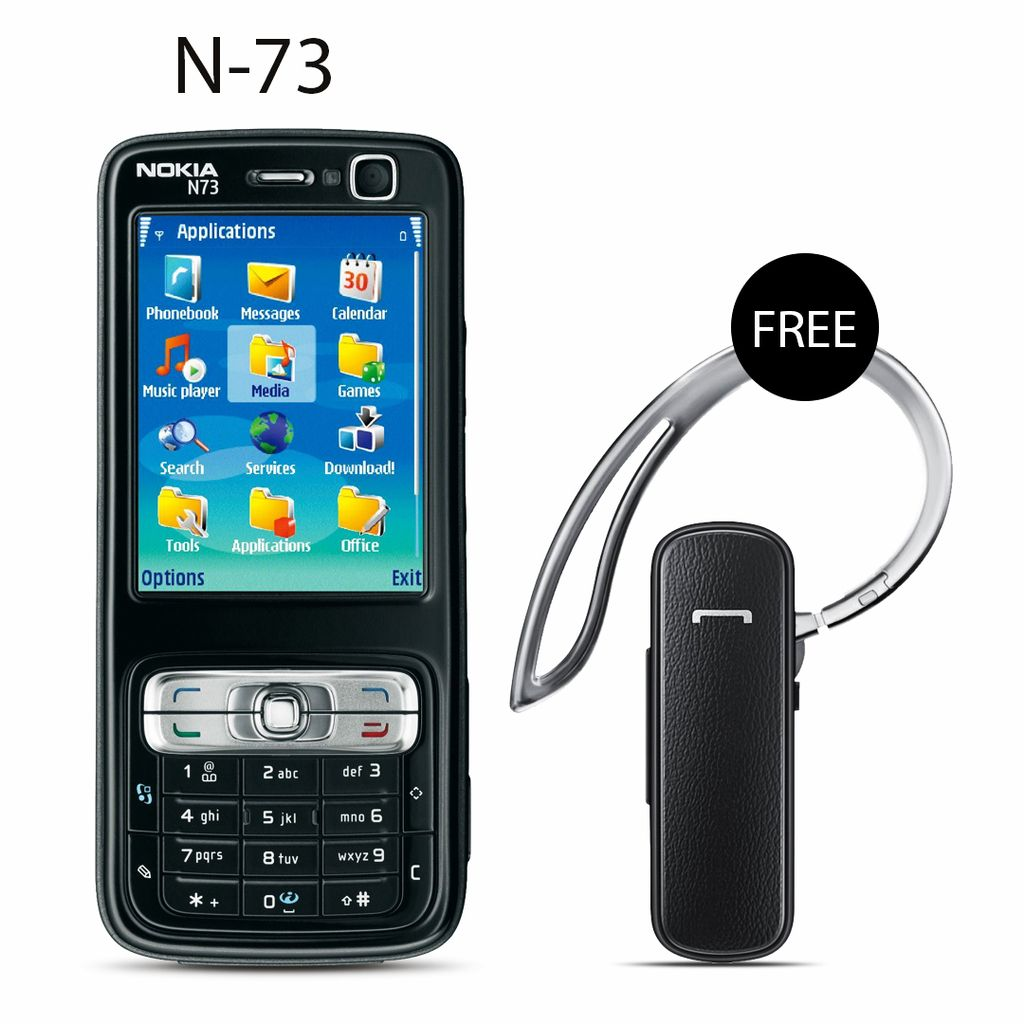 Nokia N-73 Mobile Phone With Free Bluetooth