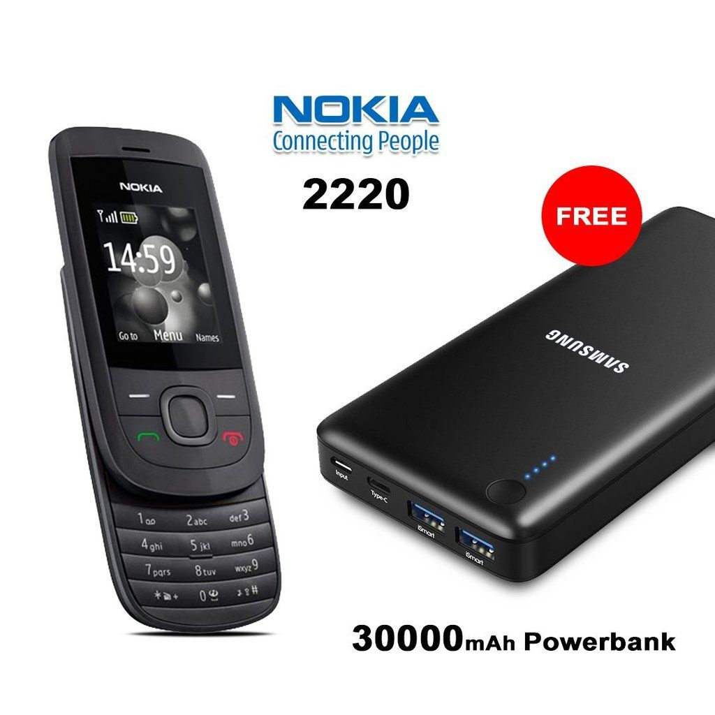 Buy Nokia 2220 Mobile Phone With Free Samsung 30000mAh Power Bank