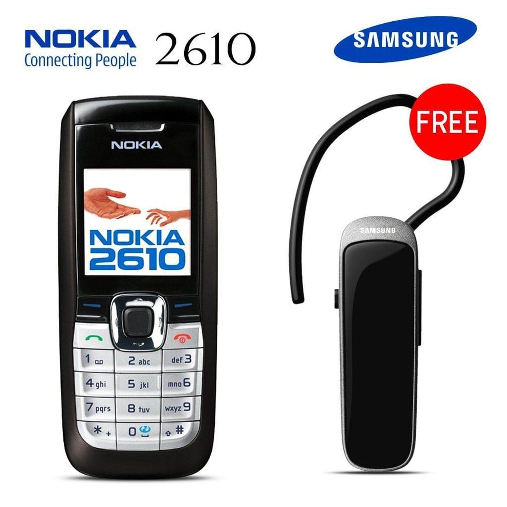 Buy Nokia 2610 Mobile Phone With Free Bluetooth