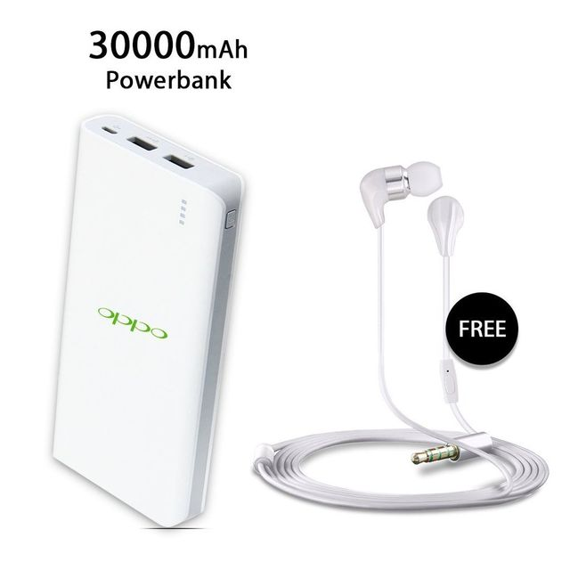 OPPO 30000 mAh Power Bank with free Earphone