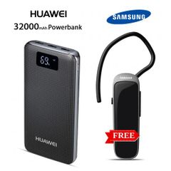 HUAWEI 32000mah power bank with free Branded Bluetooth