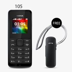 Nokia 105 Mobile Phone W ith Free Branded Bluetooth