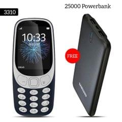 3310 Mobile Phone With Free Samsung 25000mAh Power Bank
