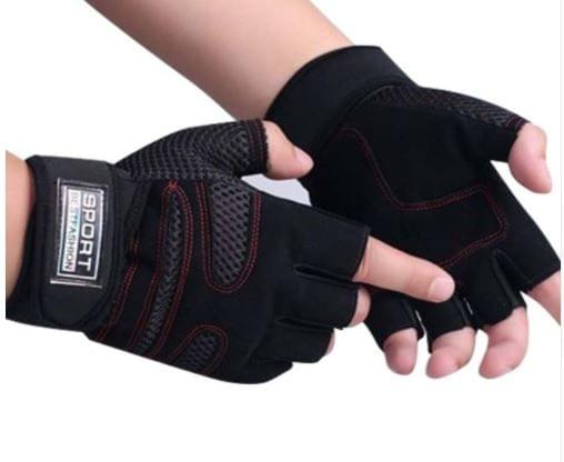 Sports Exercise Crossfit Gym Fitness Gloves Wrist Wrap Leather