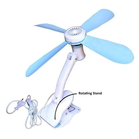 Stylish hand look Portable 4 Blades Adjustable Clip Fan