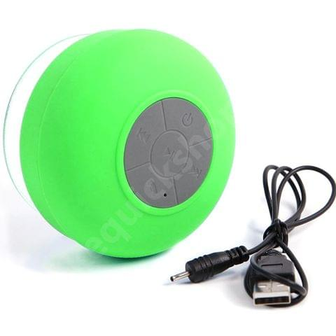 Mini Waterproof Wireless Bluetooth Speaker - Portable Handsfree Mic Suction Speaker