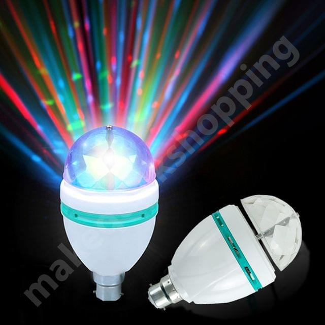 Rotating Disco LED Light - 360 Degree Revolving Mini Party Lamp